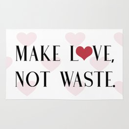 Make Love, Not Waste with a Red Heart Rug