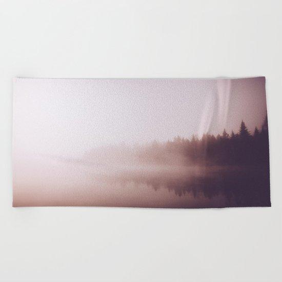 Fog #forest Beach Towel