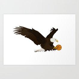 Basketball Eagle Art Print