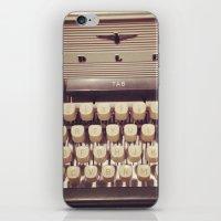 typewriter iPhone & iPod Skins featuring typewriter by Bunny Noir