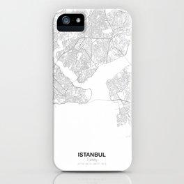 Istanbul, Turkey Minimalist Map iPhone Case