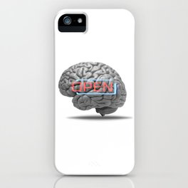 Open minded iPhone Case