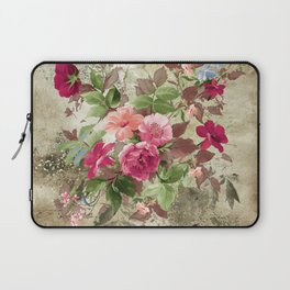 Roses on Vintage Background Laptop Sleeve