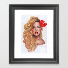 Sweet Red Framed Art Print