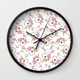 Simple magic unicorn icon Wall Clock