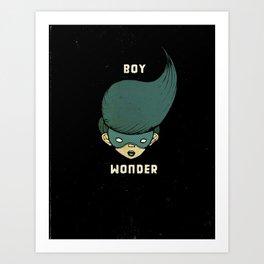 Boy Wonder {Black.} Art Print