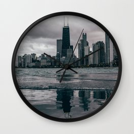 Chicago Black & White Wall Clock