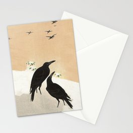 Crows from Koson Stationery Cards