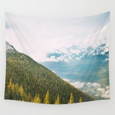 Summit Views in Banff Wall Tapestry
