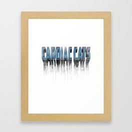 Cardiac Cats Framed Art Print