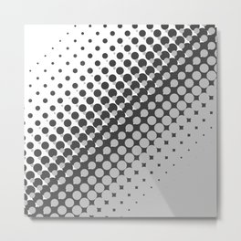 Dark grey and light grey halftone pattern Metal Print