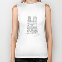 architecture Biker Tanks featuring Architecture by PINT GRAPHICS