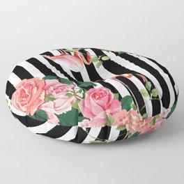 tropical flamingo Floor Pillow