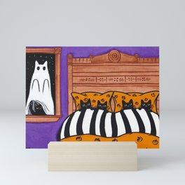 Halloween Scaredy Cats Mini Art Print