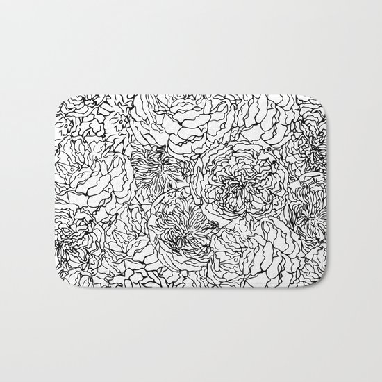 SPRING IN BLACK AND WHITE Bath Mat