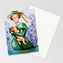 Strong Mother Stationery Cards