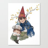 over the garden wall Canvas Prints featuring Over the garden wall by Rozenn
