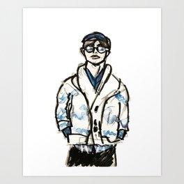 RUN BTS V Art Print