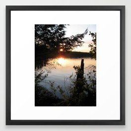 Twilight woods. Framed Art Print