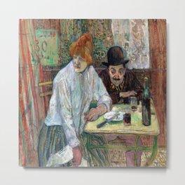 Henri de Toulouse Lautrec At the Cafe La Mie Metal Print