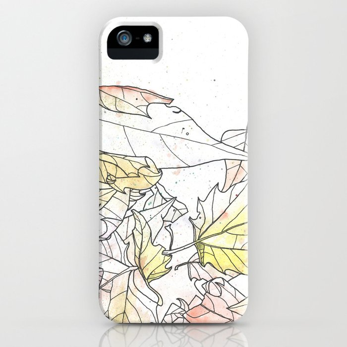 Autumn Leaves Watercolor iPhone Case