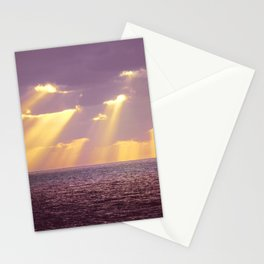 Golden Ray Over Sea Stationery Cards