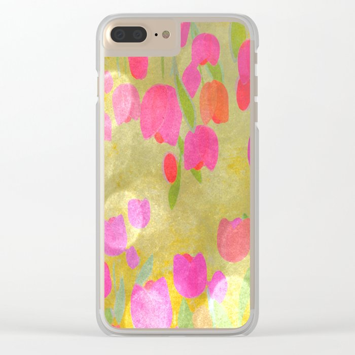 Tulips Love Clear iPhone Case