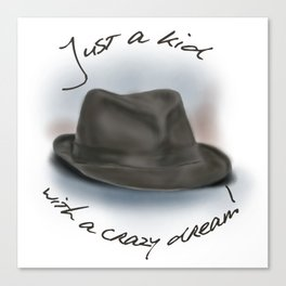 Hat For Leonard Cohen, Crazy Dream Kid Canvas Print