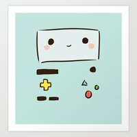 bmo Art Prints featuring BMO by I3uu