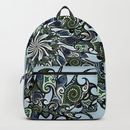 Oriental Tattoo Mandala blue Backpack