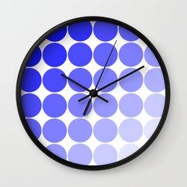 Indigo Circle Color Chart Wall Clock