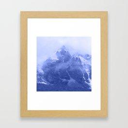 Rocky Mountain Fog Blue Framed Art Print