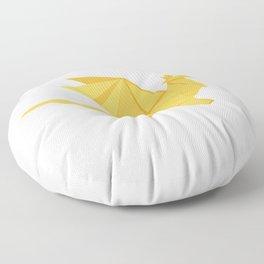 Origami Golden Dragon Floor Pillow