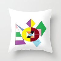 nfl Throw Pillows featuring NFL Abstract by Franky Fleece