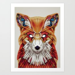 """Firefox"" by Giulio Rossi Art Print"
