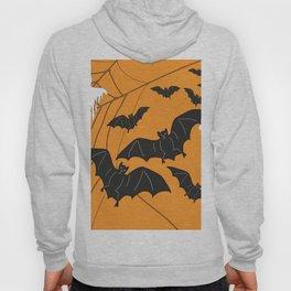 Flying Ghosts & Bats Halloween orange Hoody
