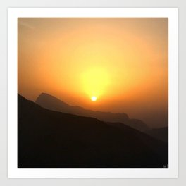 Sunset at 3000m Art Print