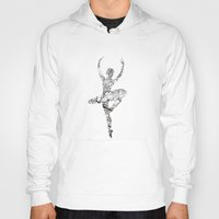 ballerina Hoodies featuring Ballerina by Christophe Chiozzi