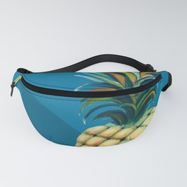 Pineapple watercolor - mosaic blue background Fanny Pack