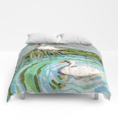 Two Swans Comforters