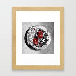 Balance [Yin-yang koi] Framed Art Print