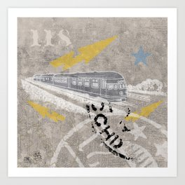 Train Of Thought Derailed Art Print