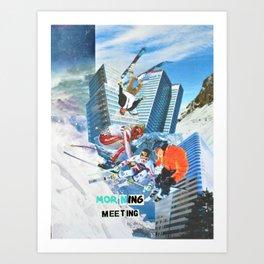 Morning Meeting Art Print