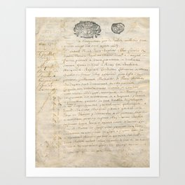 French Contract 1697 Art Print