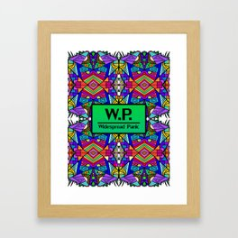 WP - Widespread Panic - Psychedelic Pattern 2 Framed Art Print