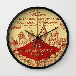 The Marauder's Map Wall Clock