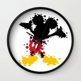 Mickey Mouse Paint Splat Magic Wall Clock