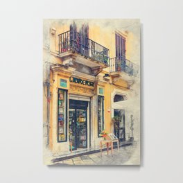 Trapani art 21 Sicily Metal Print