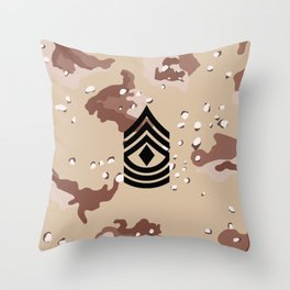 1st Sergeant (Desert Camo) Throw Pillow