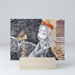 A bird Mini Art Print